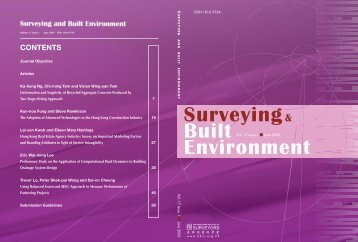 Surveying & Built Environment Vol. 17 Issue 1 (June 2006)