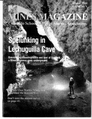 Colorado School of Mines Alumni Association - Mines Magazine