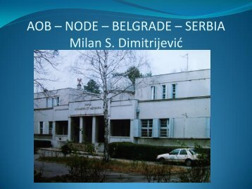 AOB – ASTRONOMICAL OBSERVATORY - BELGRADE
