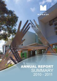 Annual Report Summary 2010 - 2011 - City of Monash