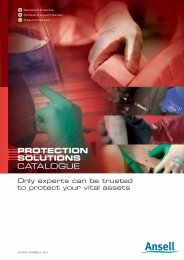 CATALOGUE PROTECTION SOLUTIONS - Ansell Healthcare Europe