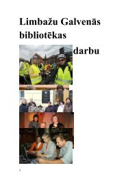 Limbažu Galvenās bibliotēkas 2011. gada pārskats