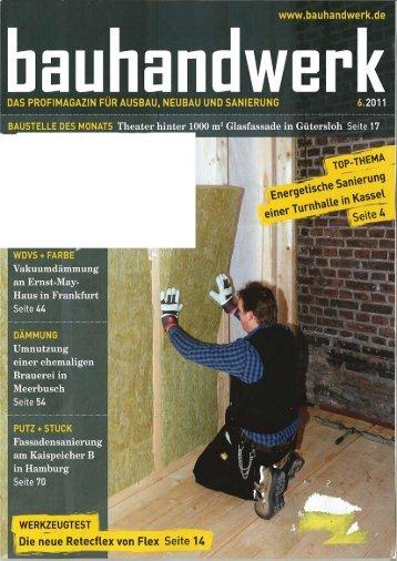 """""""Bauhandwerk"""" Juni 2011 - Auro"""