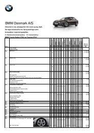 Prisliste BMW 3-serie Sedan ekstraudstyr (pdf) - BMW Danmark