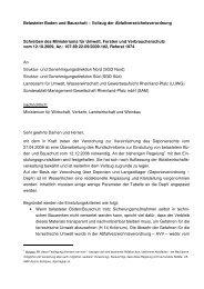 Belasteter Boden und Bauschutt – Vollzug der ... - in Rheinland-Pfalz
