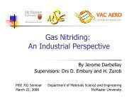Gas Nitriding: An Industrial Perspective - Course Notes - McMaster ...
