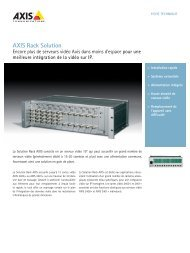 AXIS Rack Solution - Axis Communications
