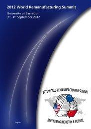 2012 World Remanufacturing Summit