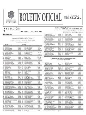 seccion2 modelo - Boletín Oficial de la Provincia de Córdoba