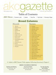 Table of Contents - Parent Directory - American Kennel Club