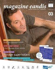 Magazine Eandis 03 - Octobre 2007 - 'Vitrage superisolant'