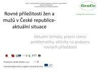 Rovné příležitosti žen a mužů v České republice-aktuální situace
