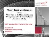 Threat Based Maintenance (TBM) - NREL