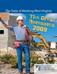 The State of Working West Virginia - West Virginia Center on Budget ...