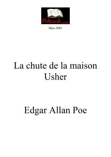 La chute de la maison Usher Edgar Allan Poe