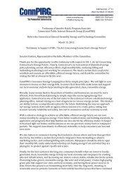 Testimony of Jennifer Hatch, Program Associate Connecticut Public ...
