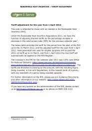 Tariff adjustment for the year from 1 April 2012 This note is ... - Dimplex