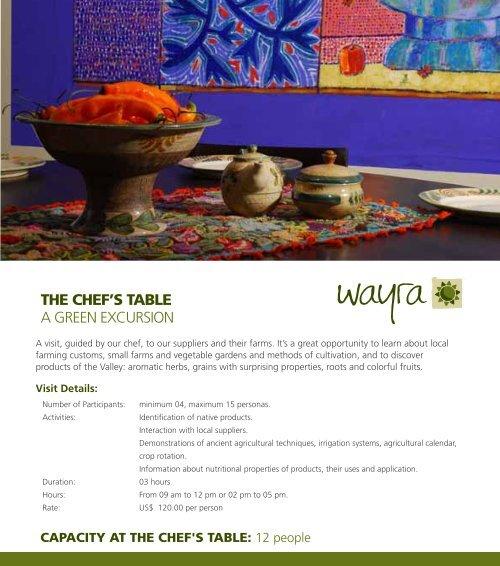 PDF La Mesa del Chef +info ingles - wayra