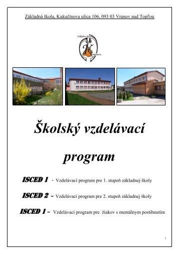Školský vzdelávací program - kukucinka.eu
