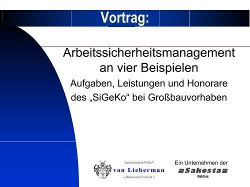 Vertragsgestaltung nach AHO-Leistungsbild - Sidi Blume