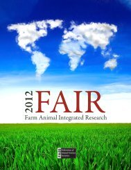 summary document - Federation of Animal Science Societies