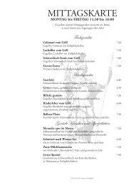 MONTAG bis FREITAG 11:30 bis 16:00 - Restaurant Athene