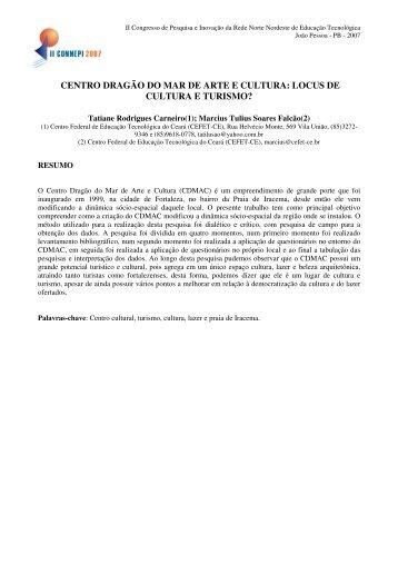 CENTRO DRAGÃO DO MAR DE ARTE E CULTURA ... - REDENET