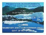 Environmental issues for earth day celebration - Delhi