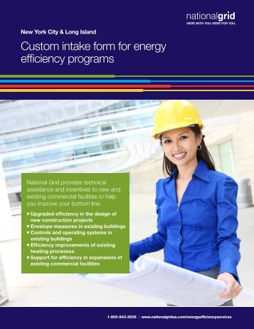 Custom intake form for energy efficiency programs - National Grid
