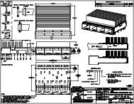 SFP+ Multi-Port DM7060-4-E-H-X Engineering Drawing