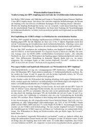 Wissenschaftler/innen fordern Neubewertung der HPV-Impfung und ...