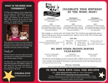 Private Party & Birthday Flyer - The Music Man