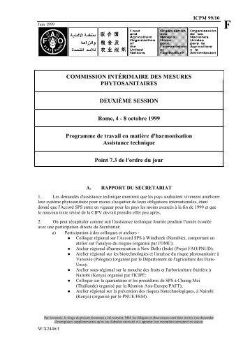 COMMISSION INTÉRIMAIRE DES MESURES PHYTOSANITAIRES ...