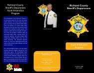 Youth Arbitration Program - Richland County Sheriff's Department