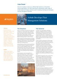 Airhub Develops Fleet Management Solutions - MapInfo