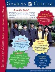 Entire 2013 Spring Schedule - Gavilan College
