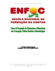 caderno de textos i modulo curso sudeste enfoc/2007 - Contag