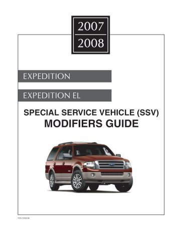 2007/2008 Expedition Modifiers Guide - MotorCraftService.com