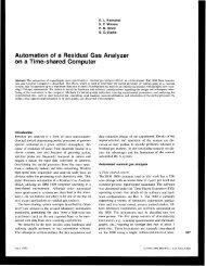 Automation of a Residual Gas Analyzer on a Time ... - W2agz.com