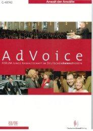 AdVoice 02/2006 - Forum Junge Anwaltschaft