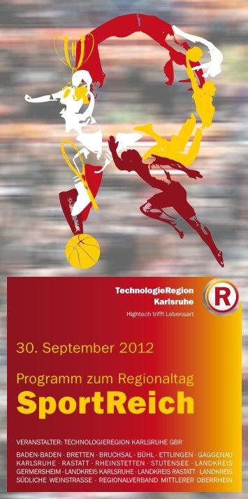 Programm als PDF - Regionaltag 2012