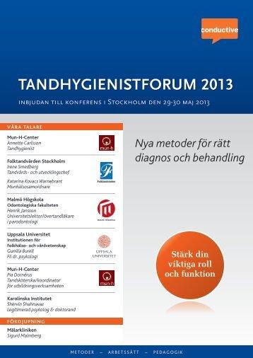 TANDHYGIENISTFORUM 2013 UM 2013 - Conductive