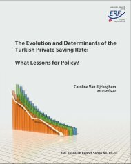 The Evolution and Determinants of the Turkish Private Saving ... - EAF