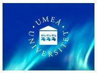 Enheten för näringsliv och samhälle - Umeå universitet
