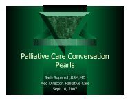Palliative Care Conversation Pearls - Holy Cross Hospital