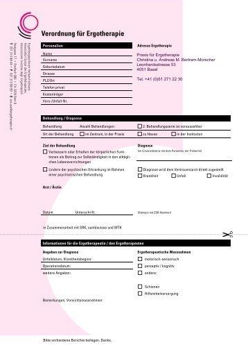 Verordnung für Ergotherapie - bertram.ch