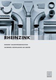 RHEINZINK®-DACHENTWÄSSERUNGSSYSTEM DACHRINNEN ...