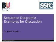 Sequence Diagrams: Examples for Discussion