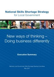 2007 National Skills Shortage Strategy - Local Government ...