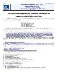 Wytyczne dla producentów wyrobów budowlanych dotyczących ...